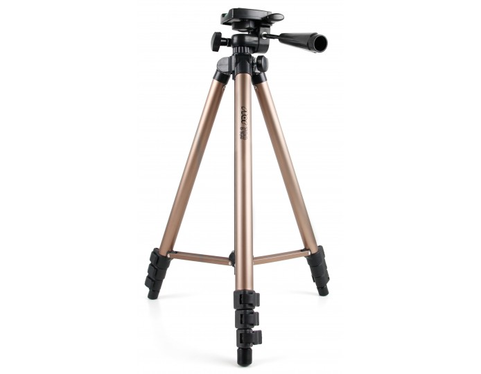 Telescopic Camera Tripod with with 3 Way Tilt Head