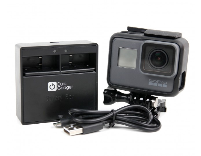 dual slot charger for gopro hero5 by duragadget