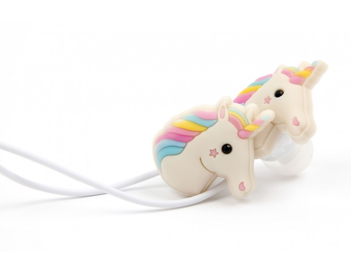 Unicorn earbuds with case - girl earbuds with microphone