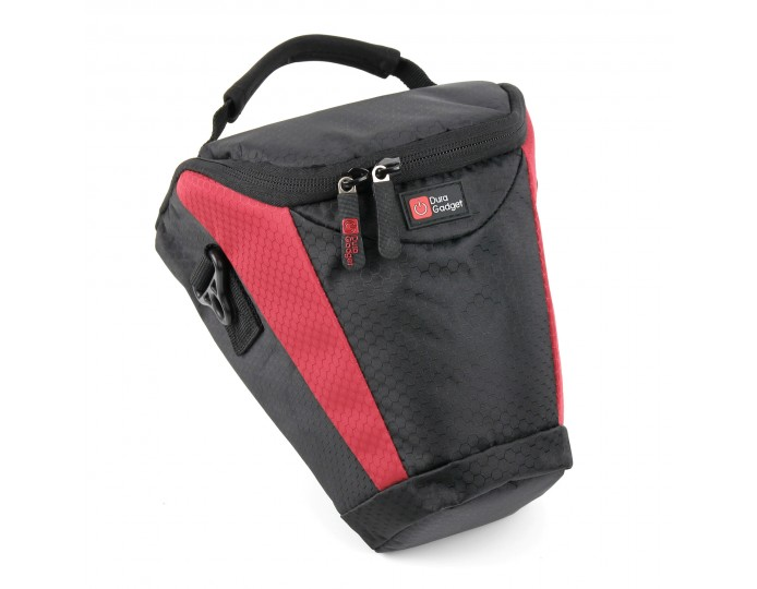 Medium DSLR/Camera Case in Black & Red