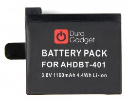 DURAGADGET 1160mAH Compatible Power Battery for the GoPro HERO4 Action Camera 1