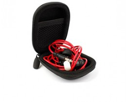 Hard EVA Protective Storage Case for Earphones in Black