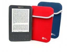Reversible Neoprene Pouch Cases for Kindle 3 Keyboard